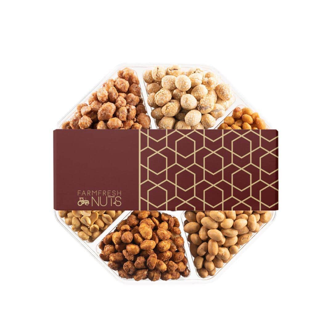 Holiday Gourmet Nuts and Chocolate Gift Tray